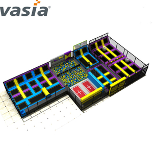 2020 Huaxia Rectangle Jumping Theme Park Equipo de interior Trampolín
