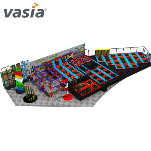 Huaxia Colorful Commercial Indoor Trampoline Playground en venta